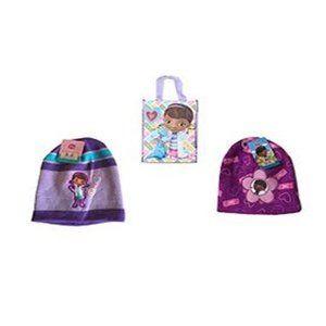Disney Doc McStuffins 2 Pack Knit Caps & Tote Bag